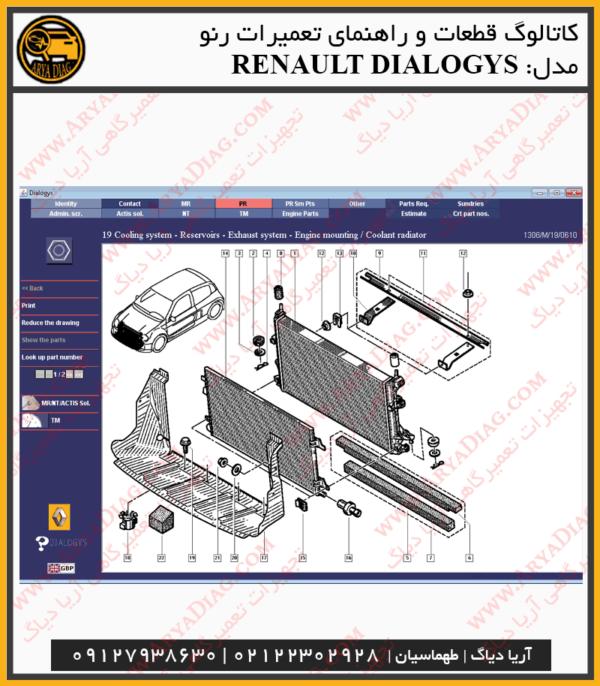 راهنمای تعمیرات و کاتالوگ قطعات رنو Renault Dialogys